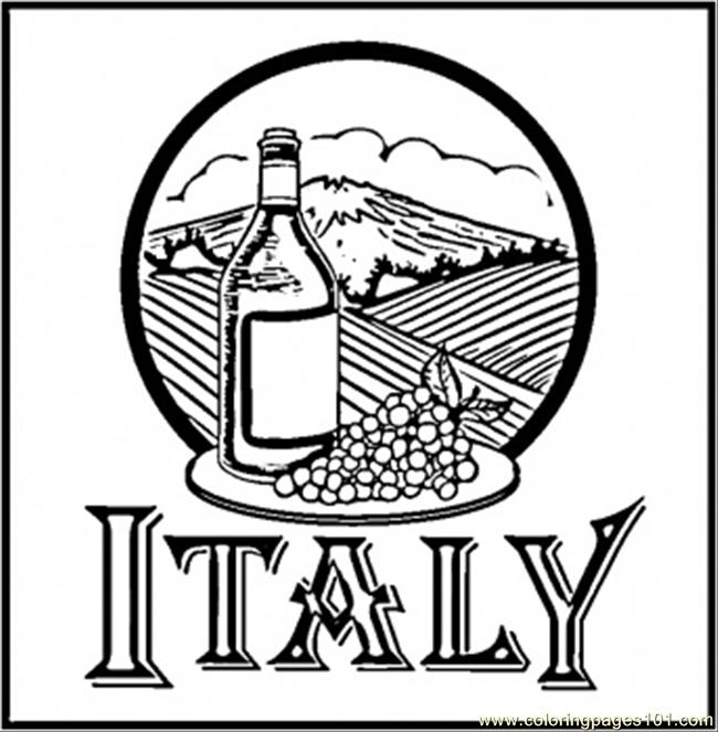Wine Of Italy Printable Coloring Page For Kids And Adults