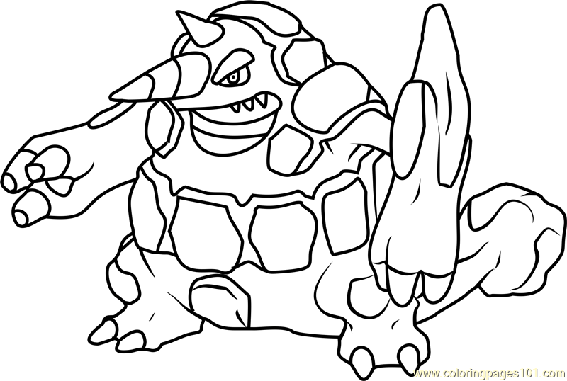 Rhyperior Pokemon Coloring Page Free Pokemon Coloring Pages Coloringpages101 Com