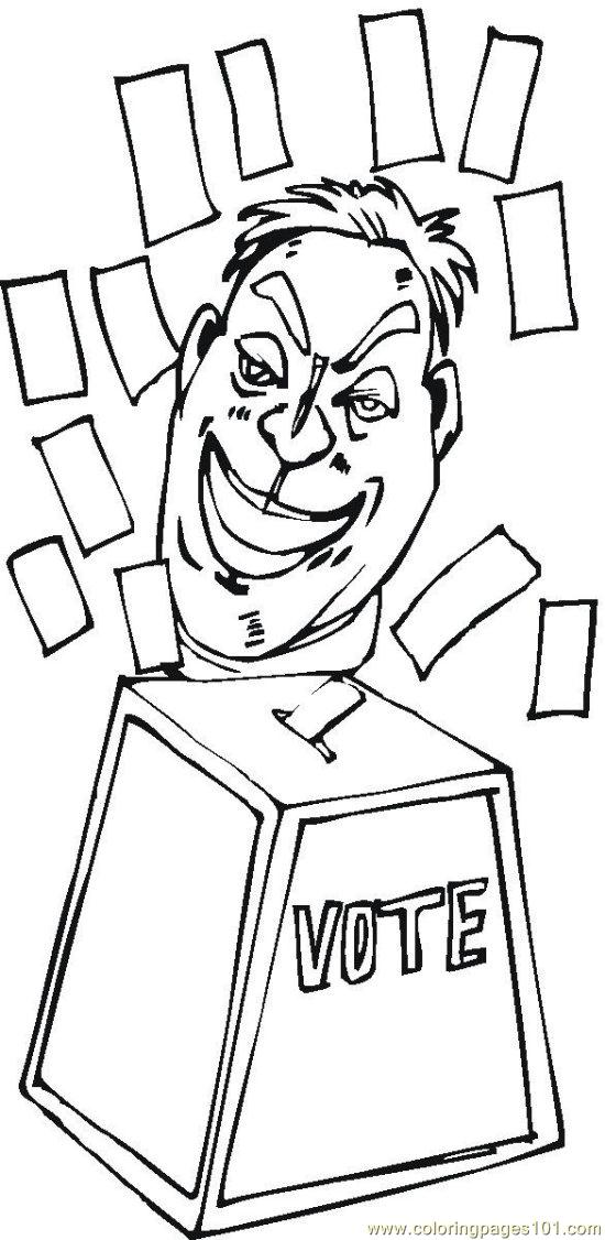 vote (2) coloring page  free politics coloring pages