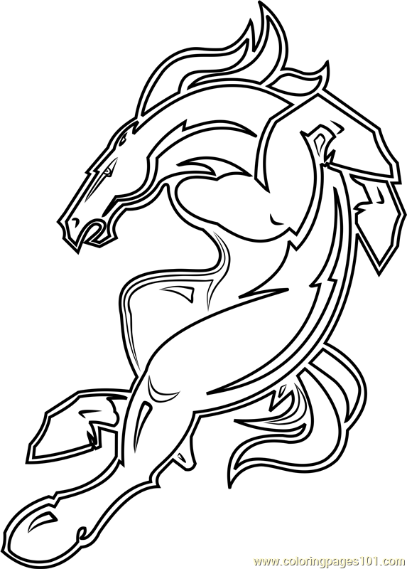 denver broncos mascot coloring page  free nfl coloring