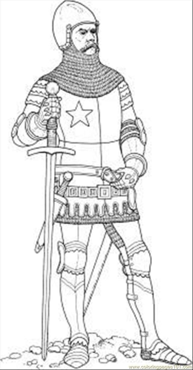 Knight Coloring Page for Kids - Free knights Printable Coloring