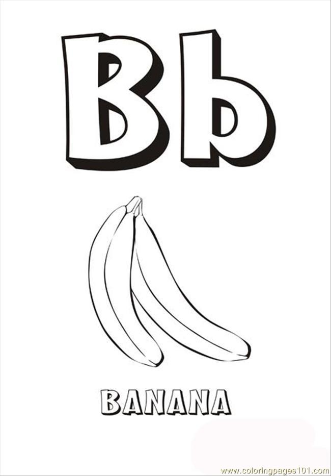 coloring pages alphabet letter b (education > alphabets