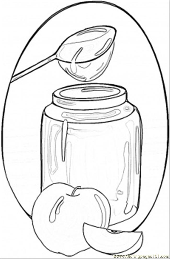 Honey And Apples Coloring Page Free Ukraine Coloring