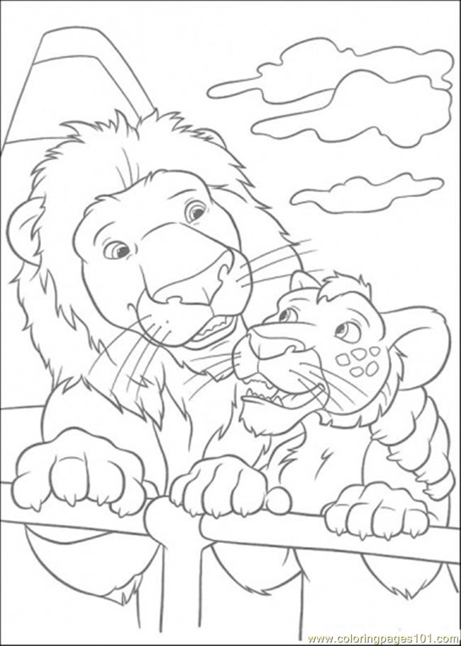 samson and ryan the lions coloring page  free the wild