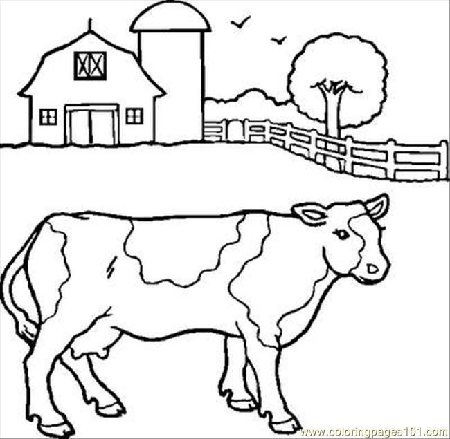 Cow 2 Coloring Page