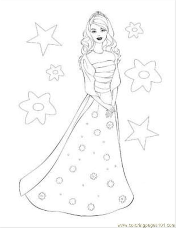 barbie coloring pages free # 74