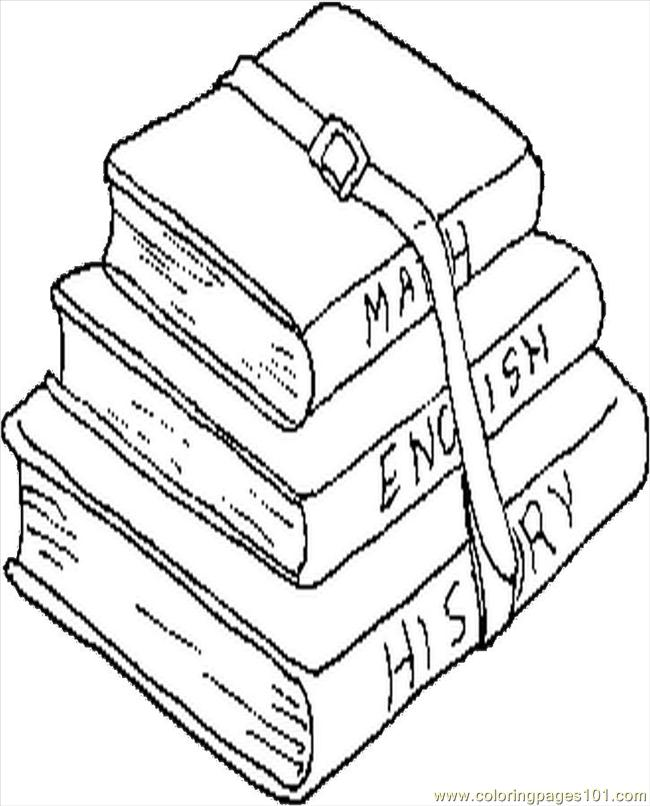school books coloring page  free school coloring pages