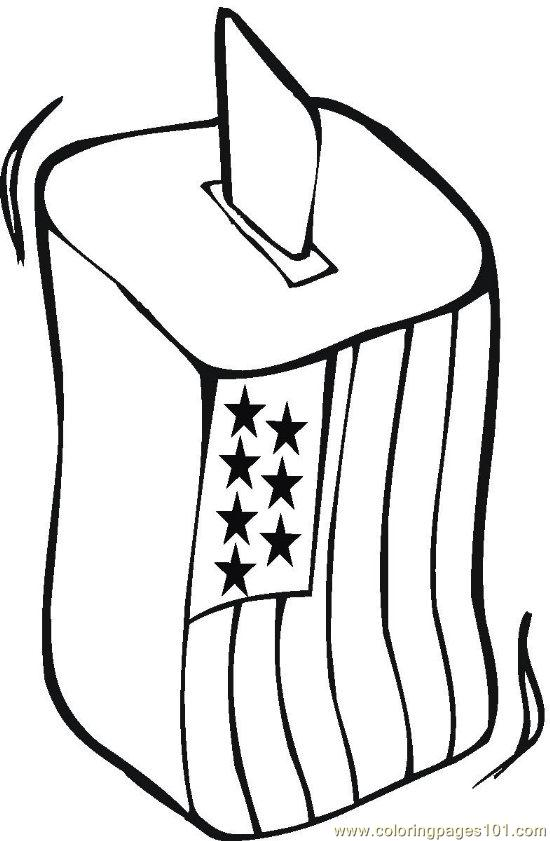 Vote Coloring Page Free Politics Coloring Pages