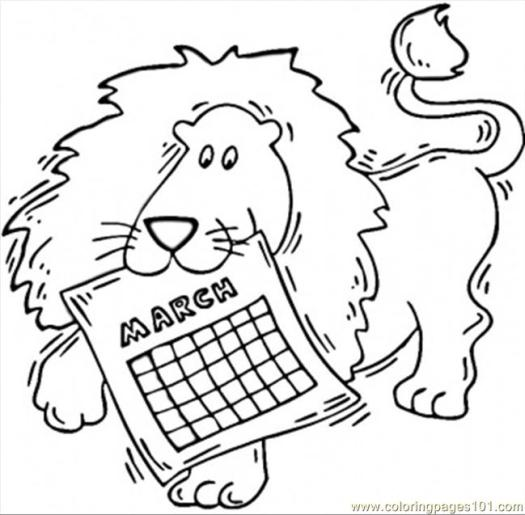 March Coloring Pages Printable