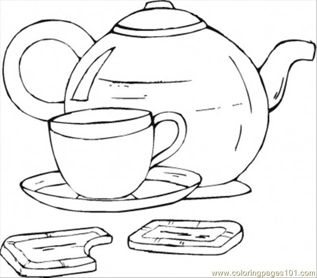 cup of tea  chocolate coloring page  free desserts