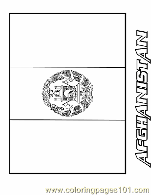 Afghanistan Coloring Page Free Flags Coloring Pages