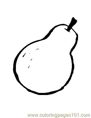 Pear 1 Coloring Page Free Pears Coloring Pages