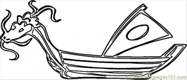 Dragon Boat Coloring Page Free Japan Coloring Pages