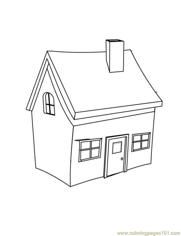 Small home Coloring Page - Free Houses Coloring Pages ...