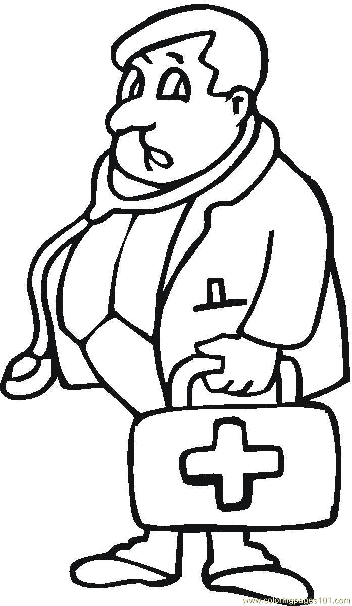 Doctor Coloring Page Free Doctor Coloring Pages