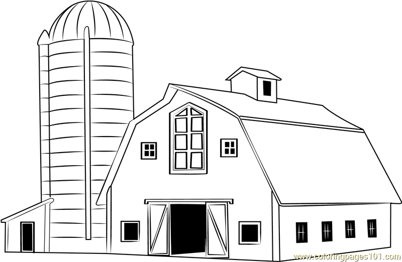 traditional wood barn coloring page  free barn coloring