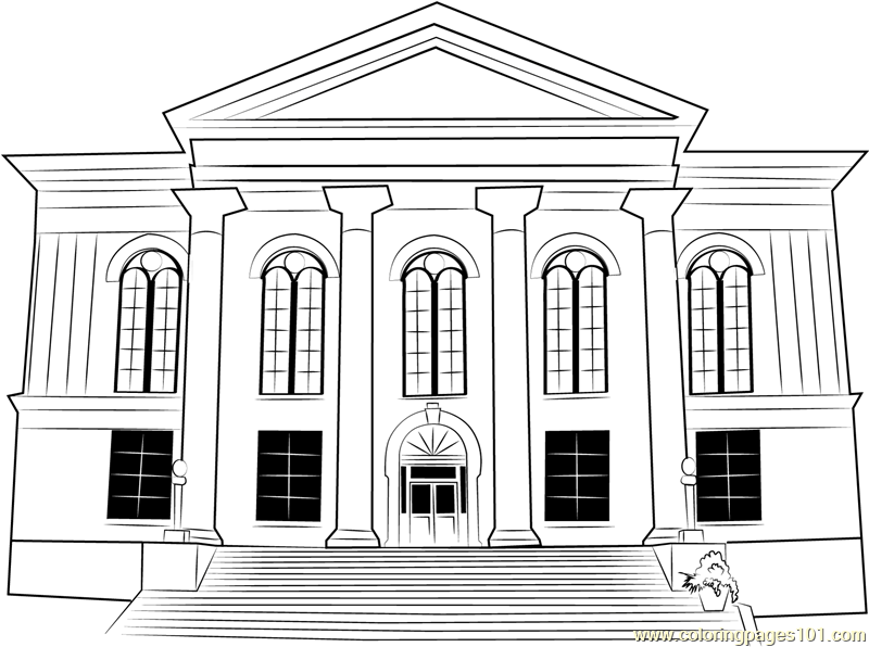 City Hall Thalian Coloring Page Free City Hall Coloring