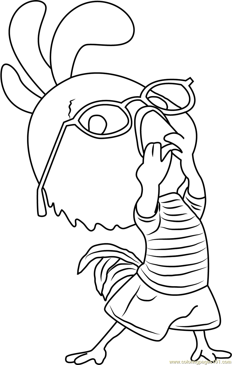 Chicken Little Funny Coloring Page - Free Chicken Little ... | printable coloring pages funny