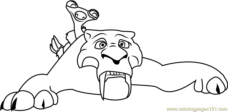Diego Ice Age Coloring Page Free Ice Age Coloring Pages