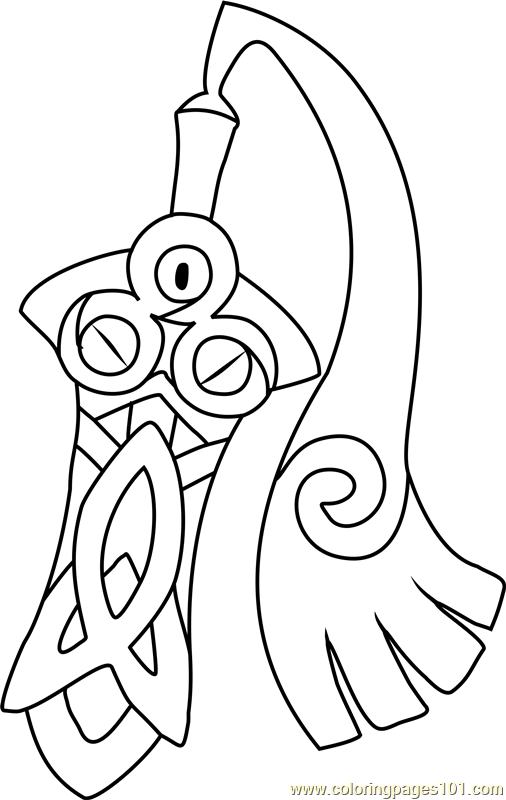 Honedge Pokemon Coloring Page Free Pokmon Coloring