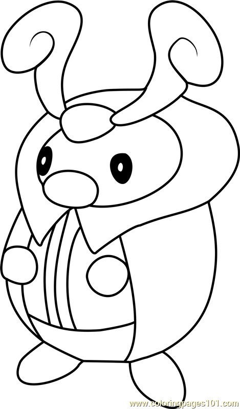 Kricketot Pokemon Coloring Page Free Pokmon Coloring