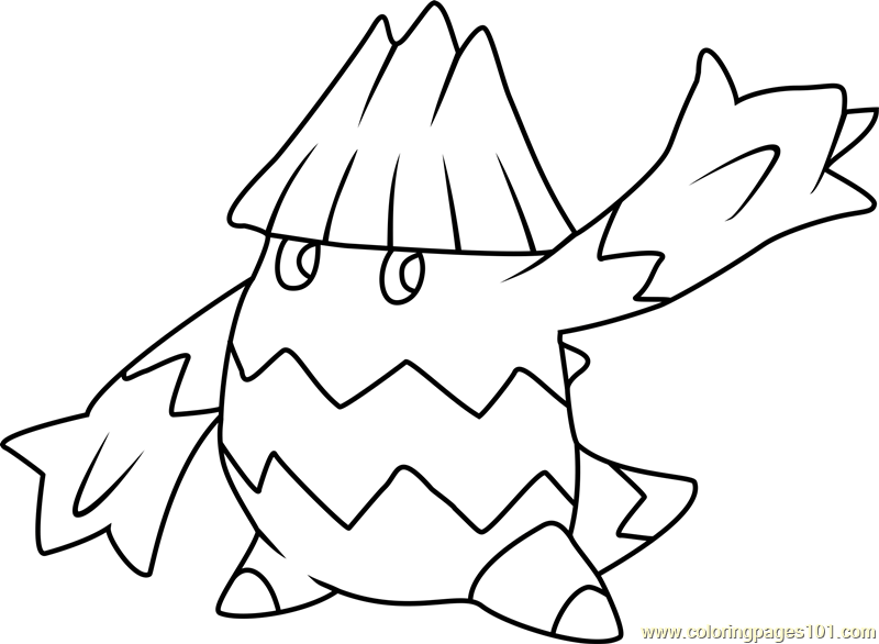 Snover Pokemon Coloring Page Free Pokmon Coloring Pages