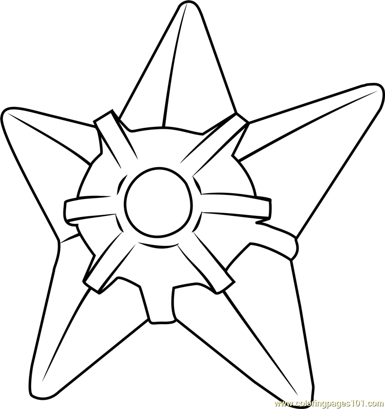 Staryu Pokemon Coloring Page Free Pokmon Coloring Pages