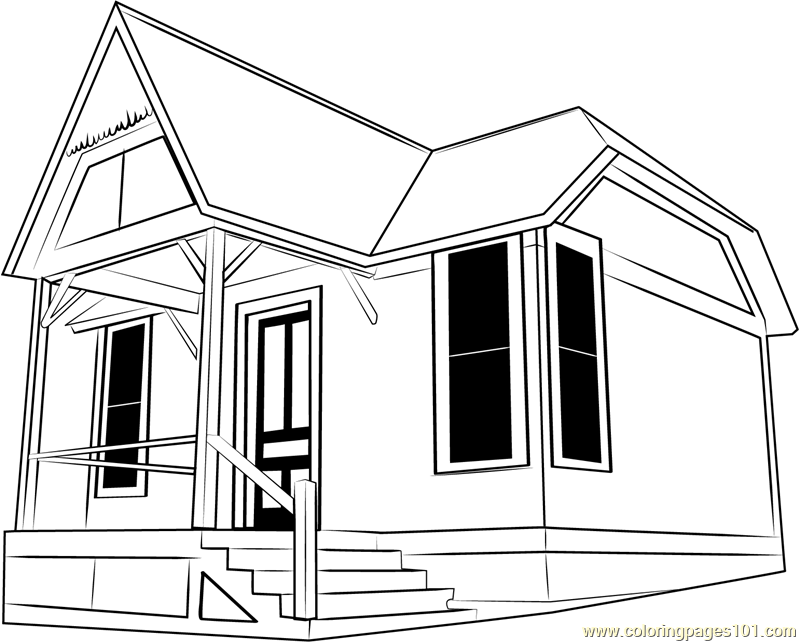 Little Cottage Coloring Page Free Cottage Coloring Pages