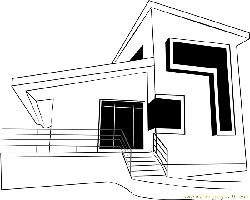 Coloring Pages Building House