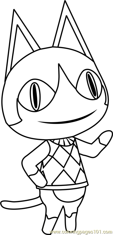 Rover Animal Crossing Coloring Page Free Animal Crossing