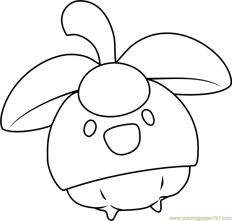 bounsweet pokemon sun and moon coloring page  free