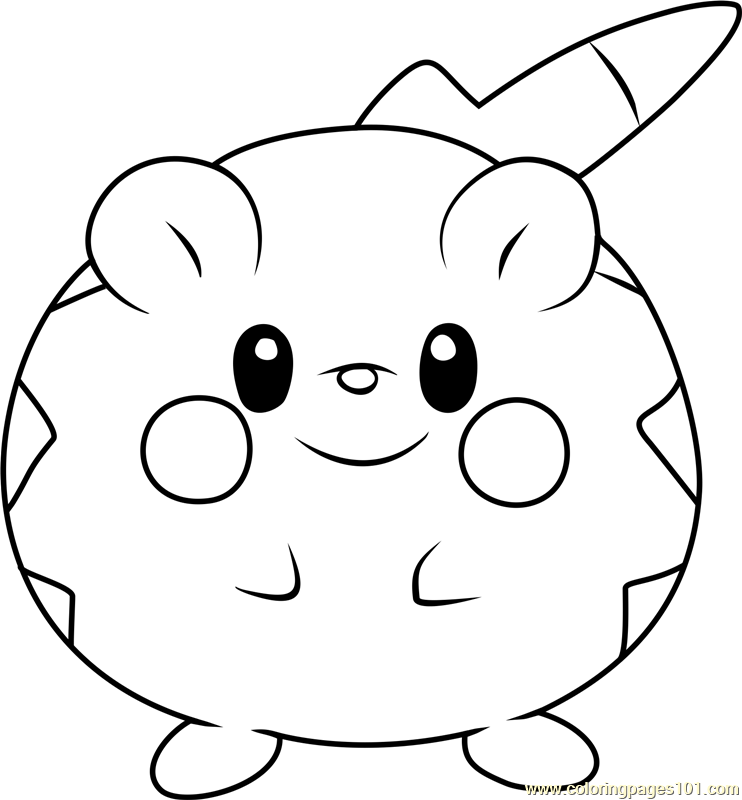togedemaru pokemon sun and moon coloring page  free