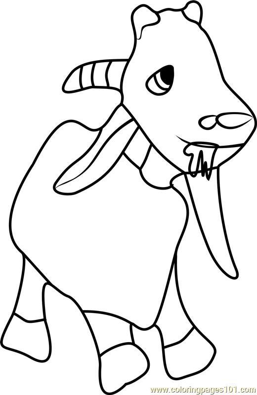 Goat Coloring Page Free Masha And The Bear Coloring