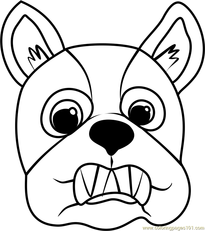 French Bulldog Puppy Face Coloring Page Free Pet Parade