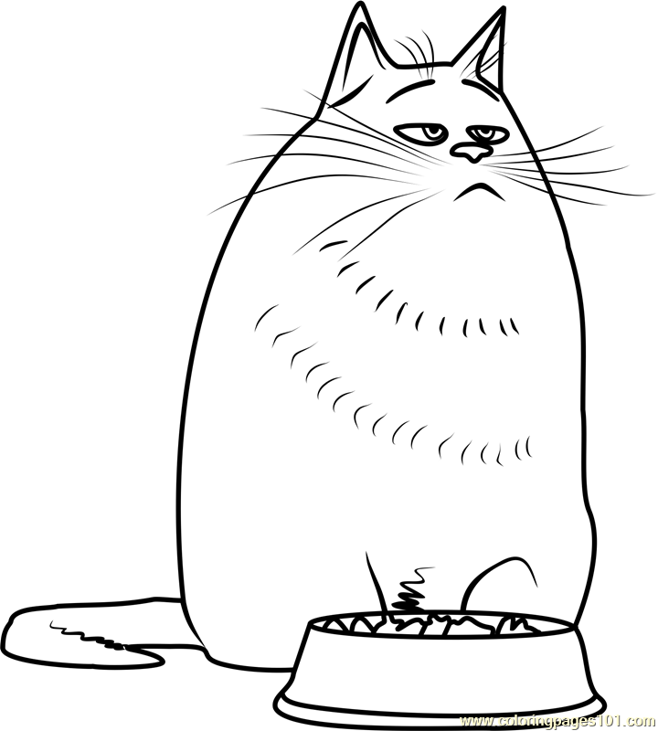 Chloe Coloring Page Free The Secret Life Of Pets