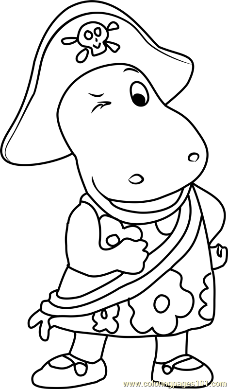 Tasha Pirate Coloring Page Free The Backyardigans