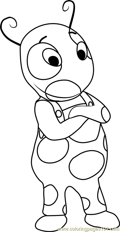 Uniqua Coloring Page Free The Backyardigans Coloring