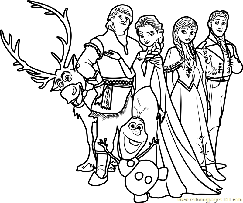 Frozen Family Coloring Page Free Frozen Coloring Pages
