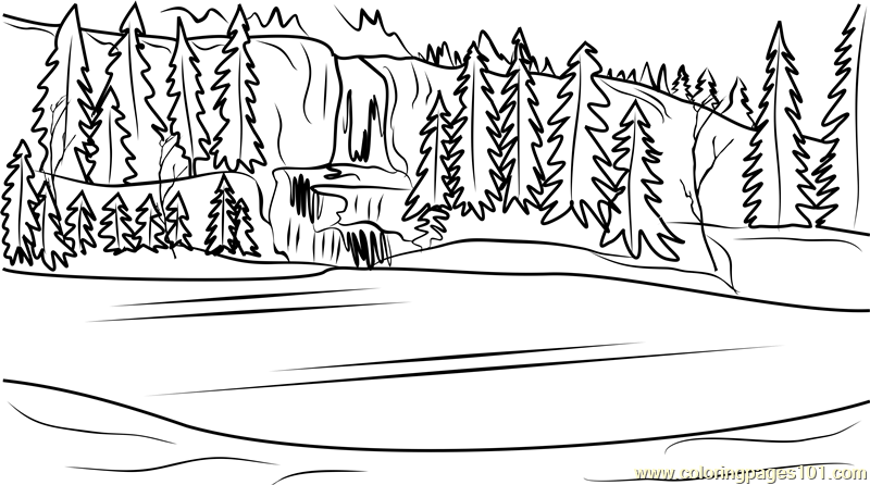 Frozen Scenery Coloring Page Free Frozen Coloring Pages