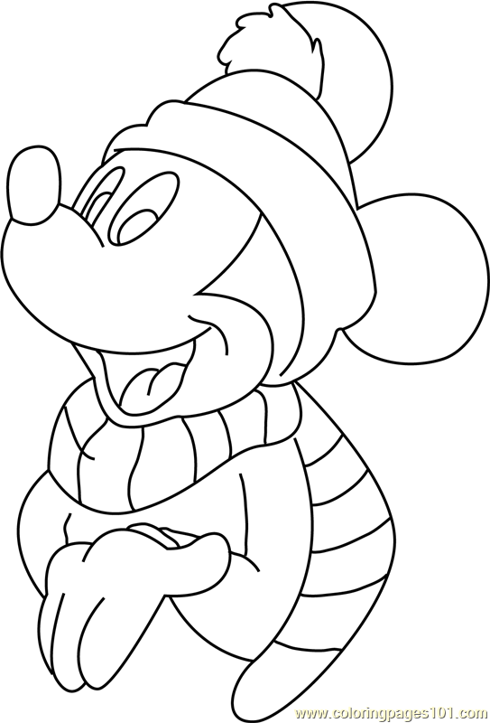 Disney Christmas Mickey Mouse S Coloring Page Free