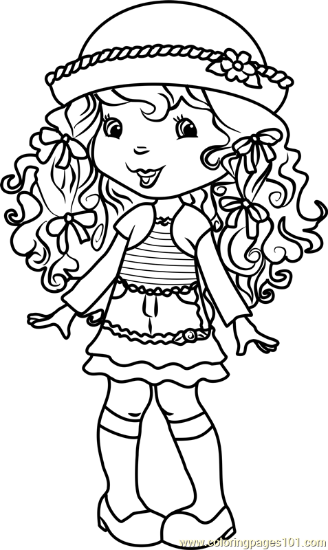 Angel Cake Coloring Page Free Strawberry Shortcake