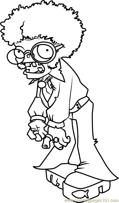 Dancing Zombie Coloring Page Free Plants Vs Zombies Coloring Pages Coloringpages101 Com