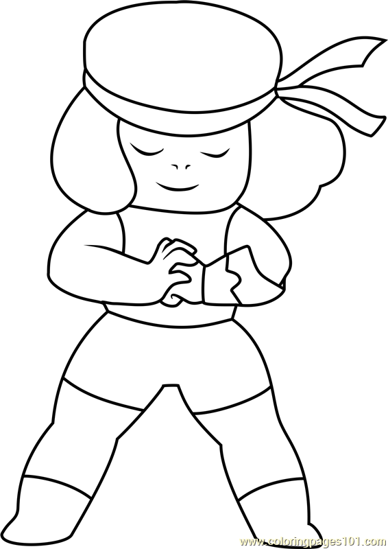 ruby steven universe coloring page  free steven universe