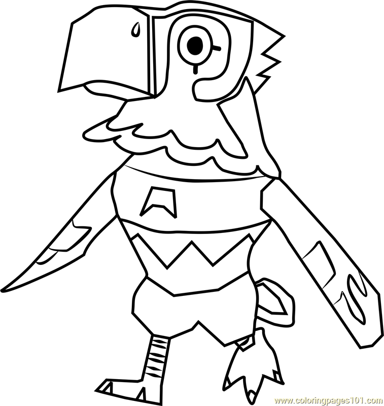 Avery Animal Crossing Coloring Page Free Animal Crossing