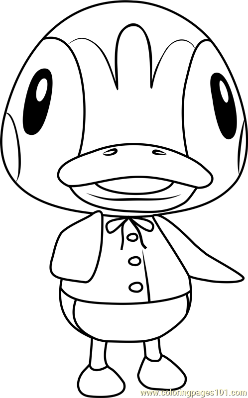 Molly Animal Crossing Coloring Page Free Animal Crossing