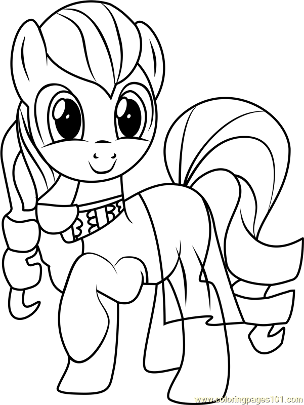 Coloratura Coloring Page Free My Little Pony