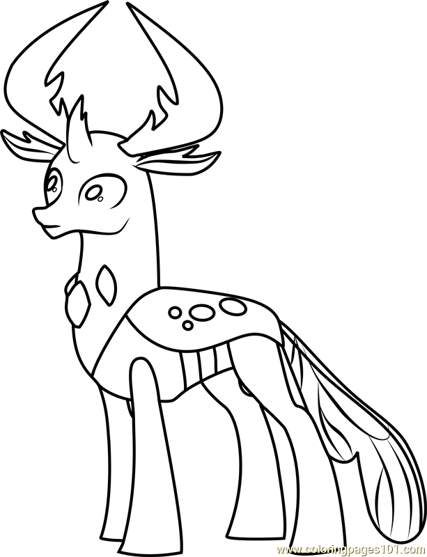 Thorax Coloring Page Free My Little Pony Friendship Is