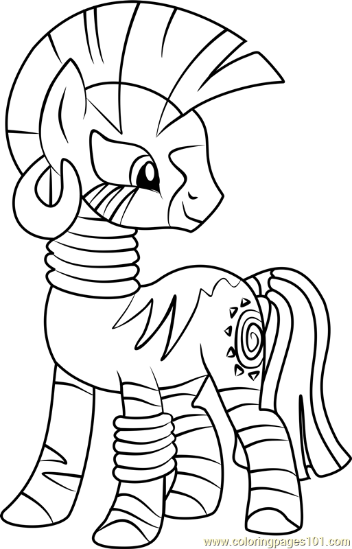 Zecora Coloring Page Free My Little Pony Friendship Is Magic