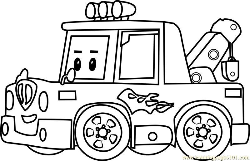 Spooky Coloring Page Free Robocar Poli Coloring Pages