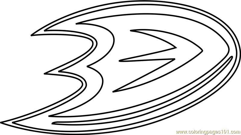 Anaheim Ducks Logo Coloring Page Free NHL Coloring Pages